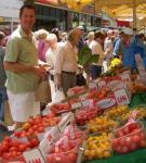 Jon at the tomato stall