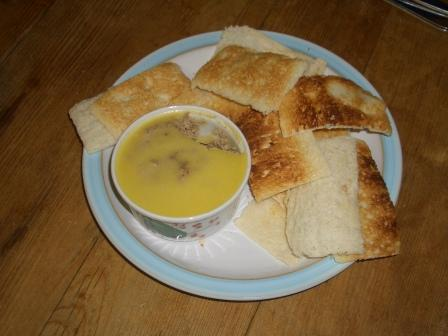 Homemade Chicken Liver Pate & Melba Toast