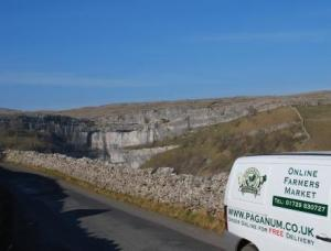 On the way home passing Malham Cove, Yorkshire Dales