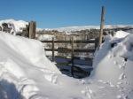 Malham Cove, No Camping, snowdrift !