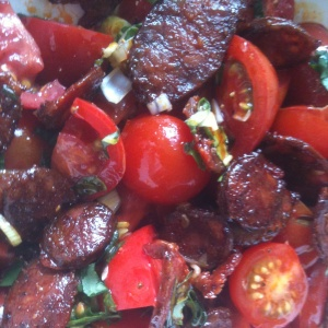 Tomato and Chorizo Salad