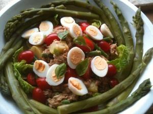 Salad Nicoise, Quail Eggs & Asparagus