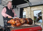 Carving the Hogroast