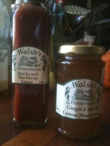 Walsh's backyard barbecue sauce