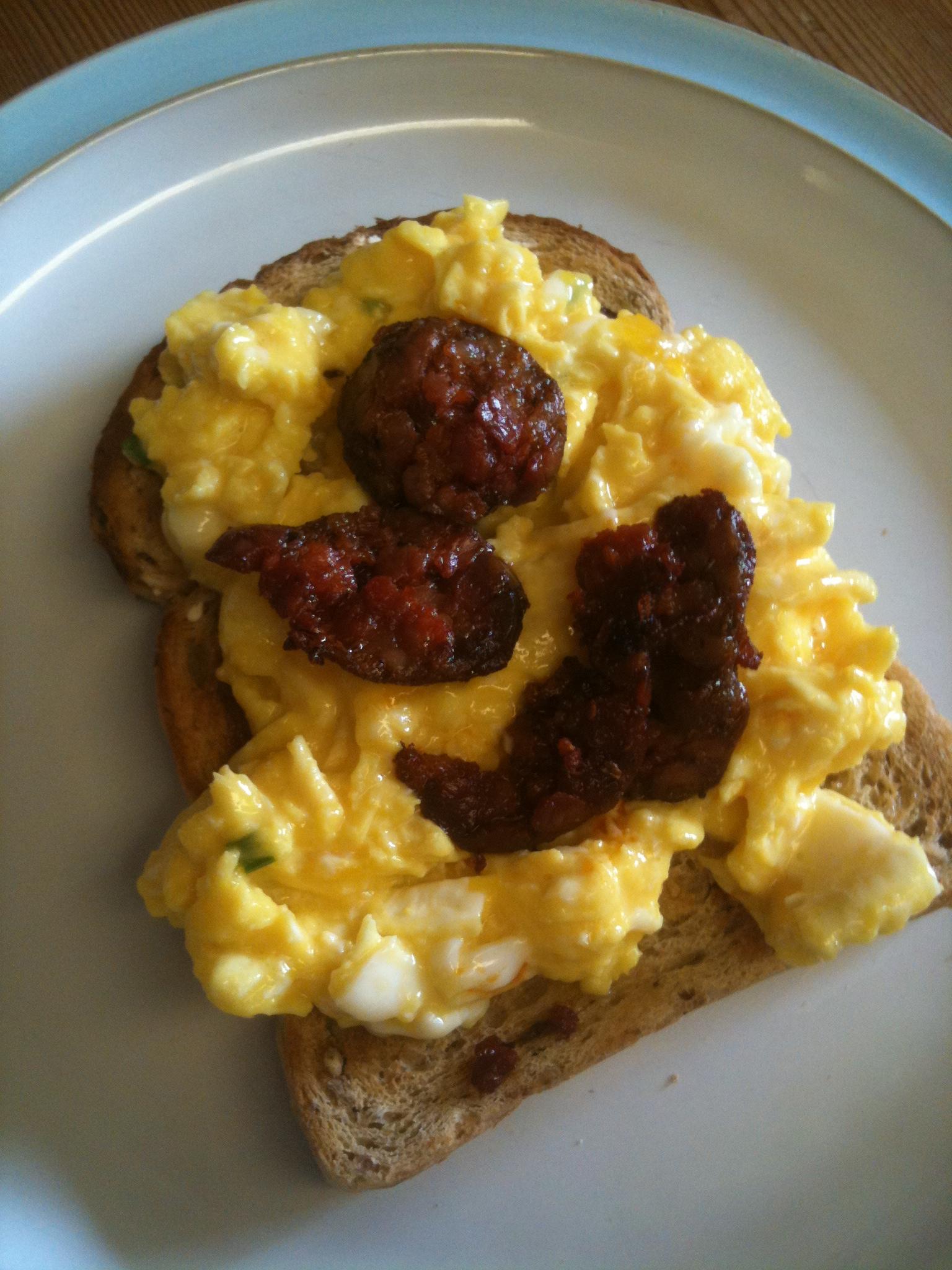 Chorizo Scrambled Eggs Recipe — Dishmaps