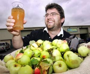 Stephen Naylor - Cider Making, Photo Telegraph & Argus