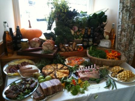 Secret Supper Spread in Malham Village Hall