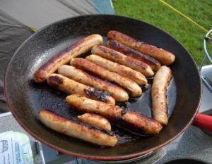 camping sausages