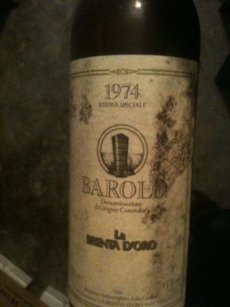 barolo riserva speciale 1974