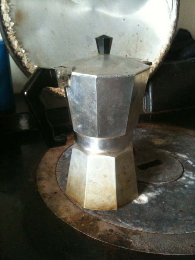 Bialetti Coffee Pot on the Aga