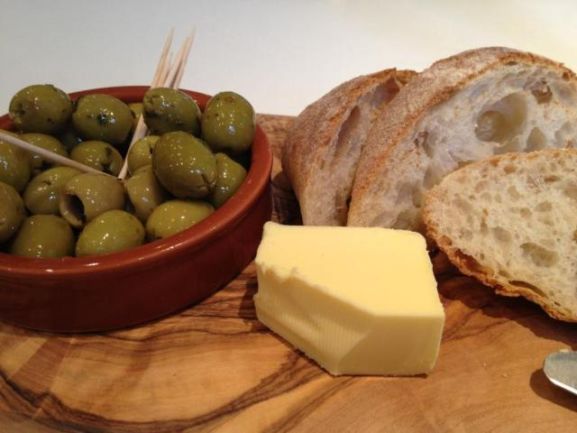 Ciabatta and Olives