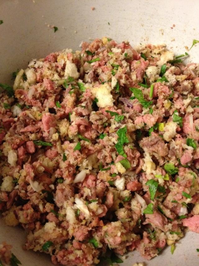 Beef Rissole Mixture