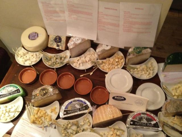 relish Yorkshire cheese selection