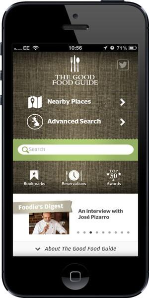 Good Food Guide 2013 App Screen Shot