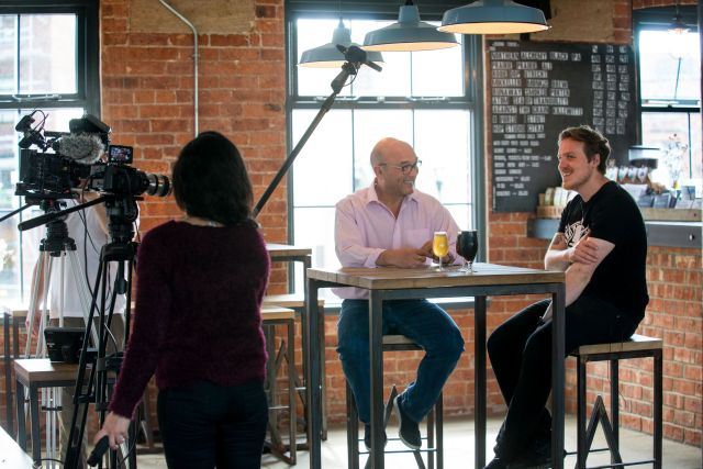 Behind the scenes with Gregg Wallace and Northern Monk Brewery's Russell...