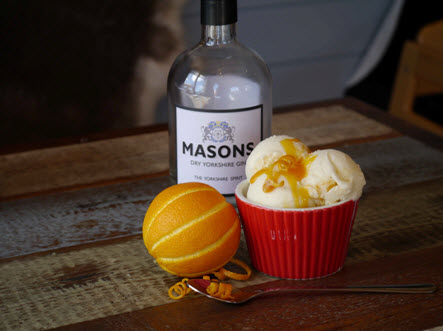 masons yorkshire gin and orange ice cream yummy yorkshire