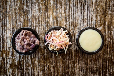 twisted burger slaw and sauces