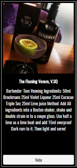 The Flaming Venom Gin Cocktail Brockmans